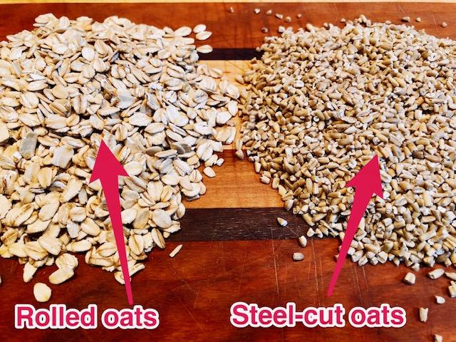 rolled oats vs. steel-cut oats